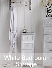 White Bedroom Storage furniture and white chest of srawers
