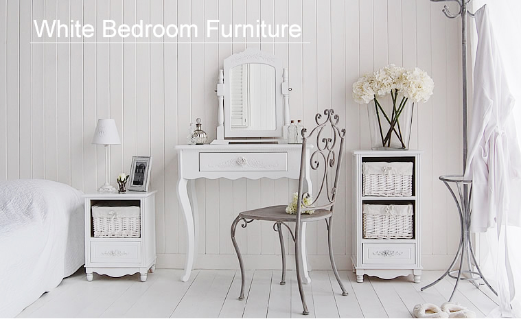White Bedroom Accessories Part - 27: The White Lighthouse Range Of White Bedroom Furniutre Including White  Dressing Tables, Bedside Tables And