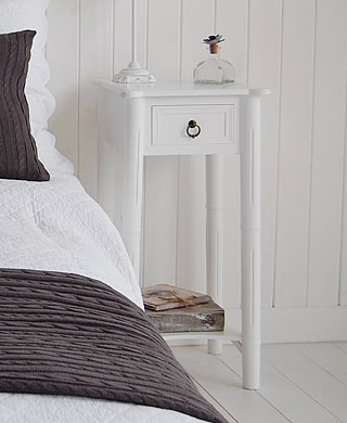 Tall White Bedside Cabinets Halflifetrinfo